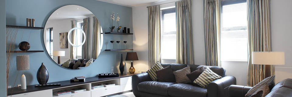 blue accent wall edit our pros know. Black Bedroom Furniture Sets. Home Design Ideas
