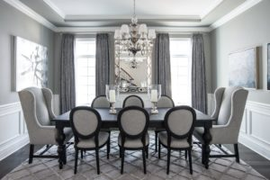 Dining Room from slate grey to pale grey blue